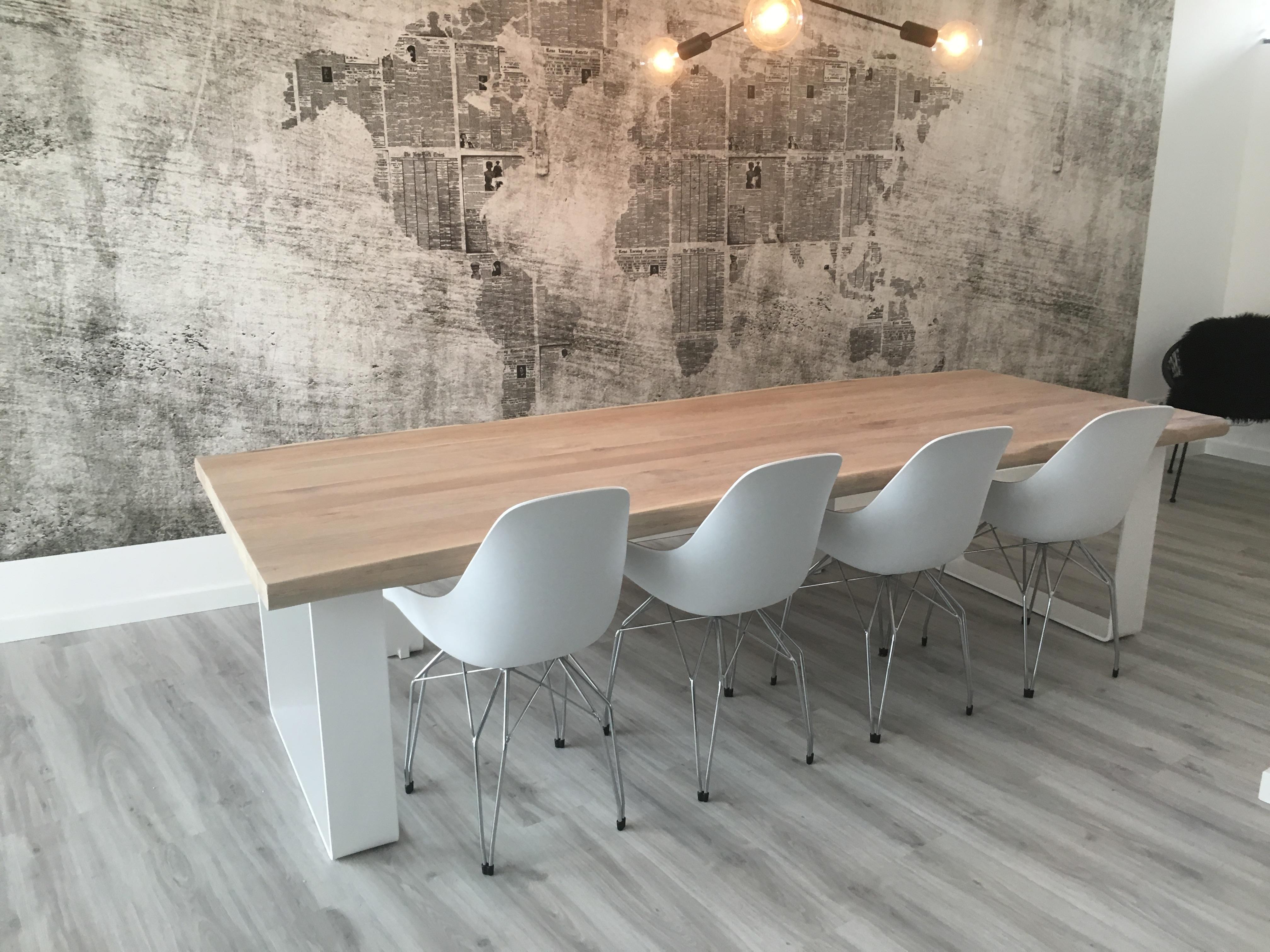 Toffe tafels strakke eettafels for Witte moderne stoelen