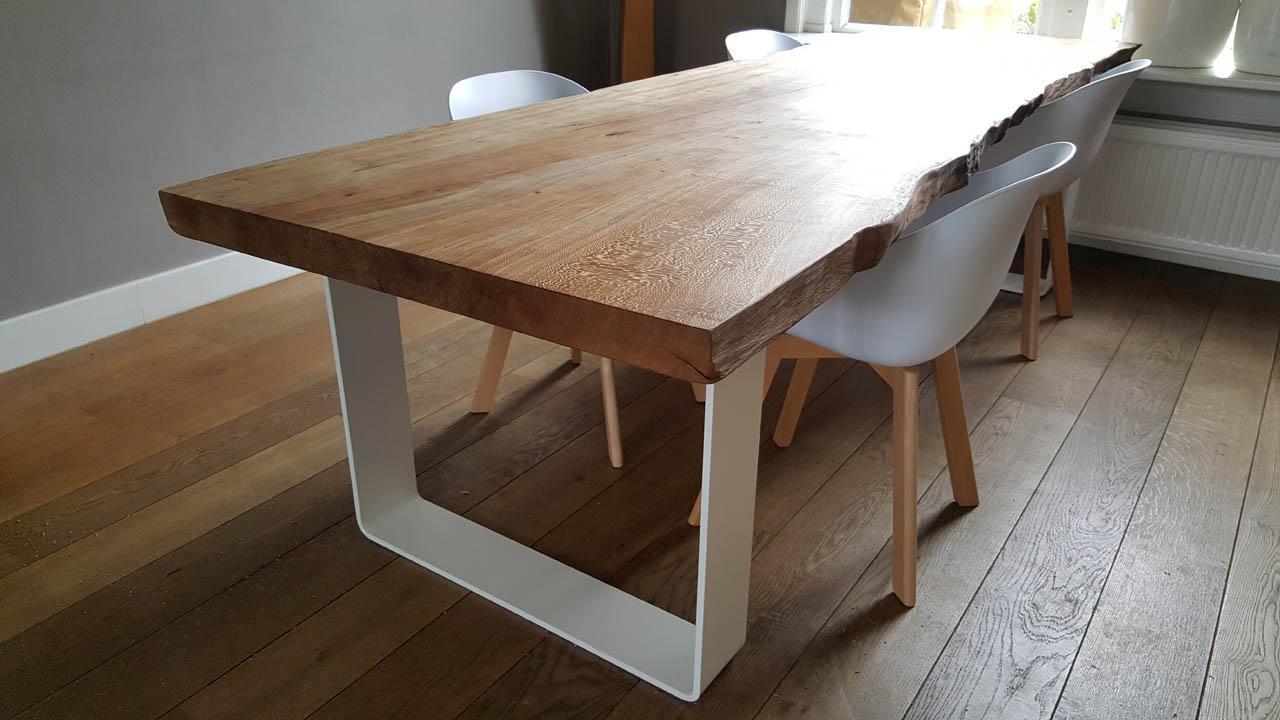 Grote Witte Tafel : Toffe tafels massieve boomstamtafels